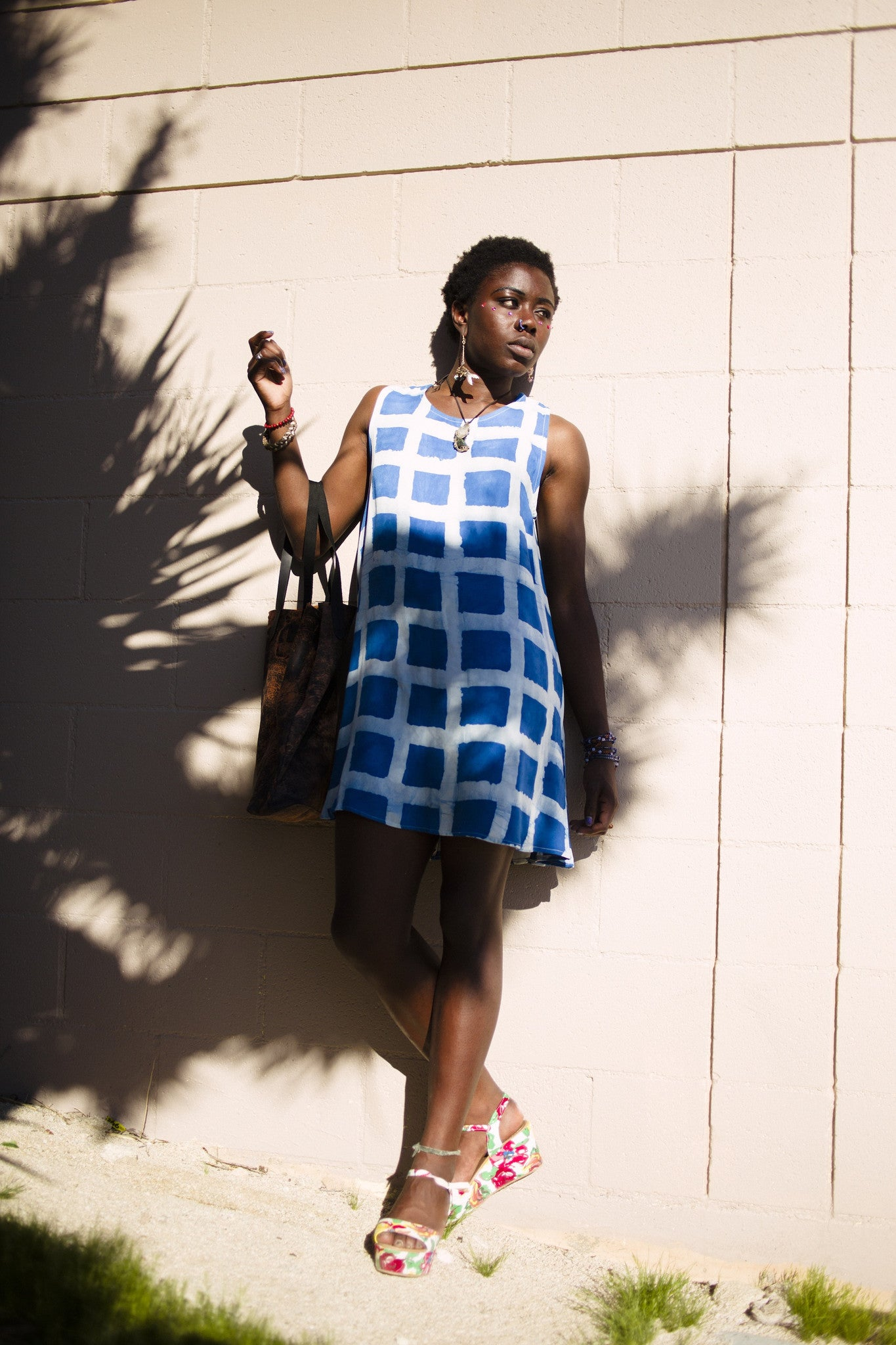 Della Block Print Dress