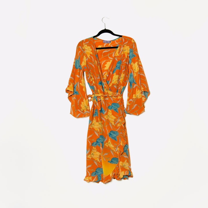 Anya Silk Wrap Dress