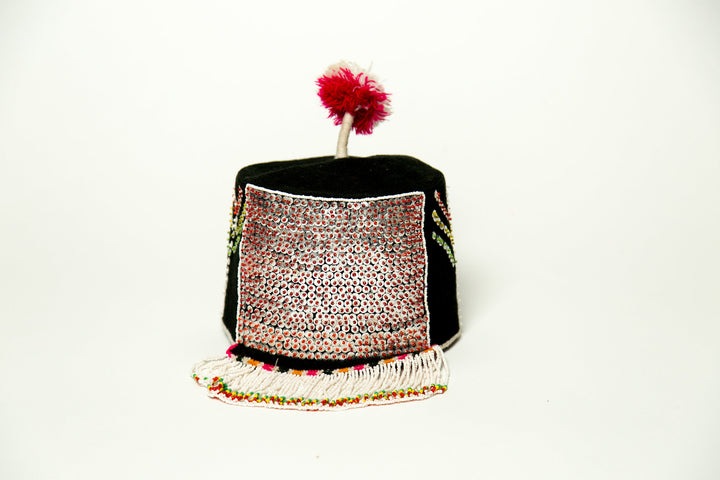 Vintage Sequin Fringe Hat - SOLD