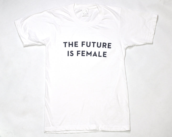future is female white t-shirt