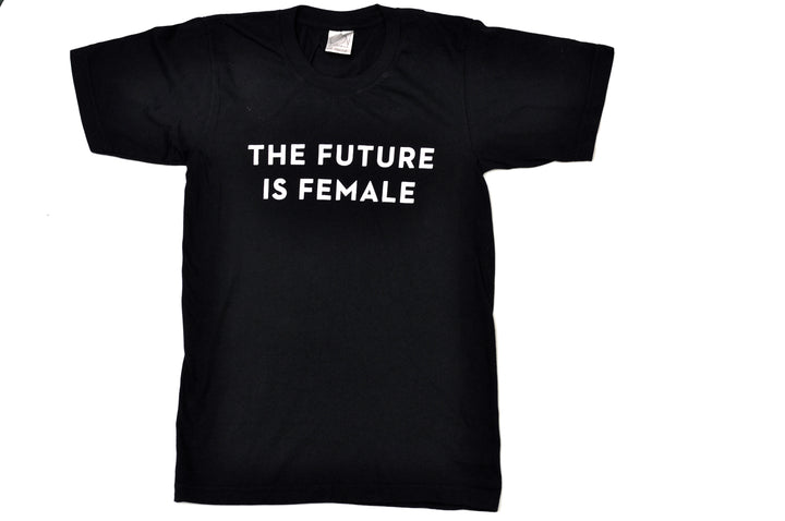 future is female black tee