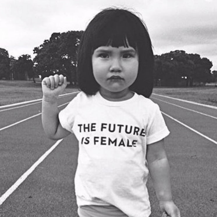 The Future is Female Baby + Kids Tee in White