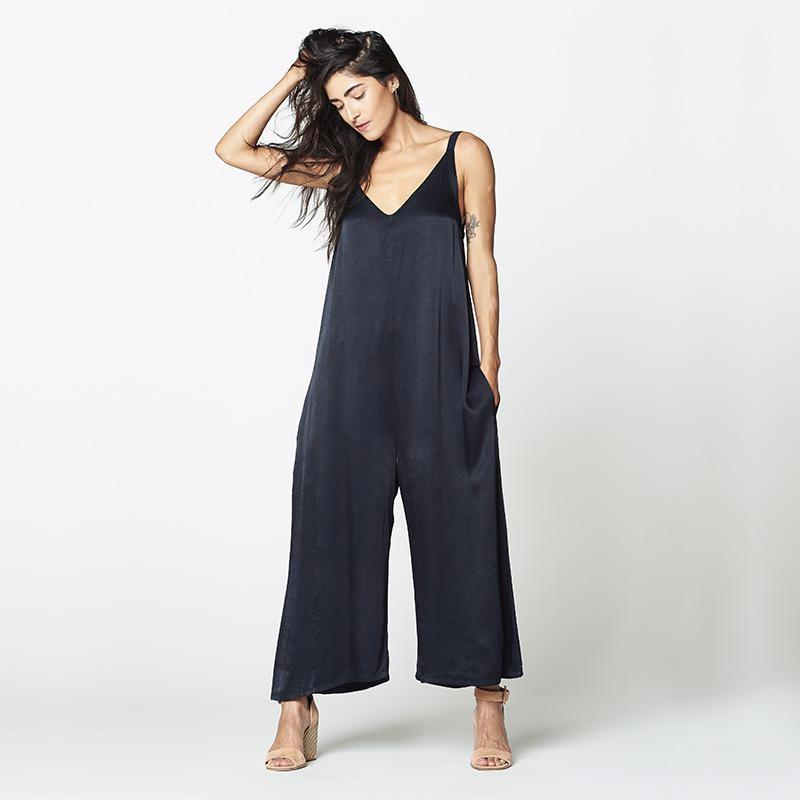 Santi Jumpsuit in Midnight - SOLD