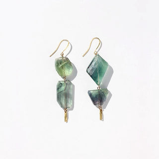 Rainbow Fluorite Earrings