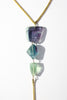 Rainbow Fluorite Lariat Necklace - SOLD