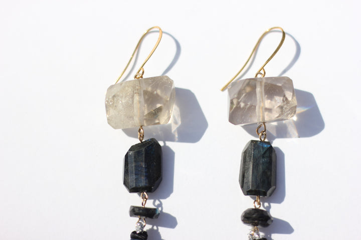 SHOP: Labradorite Tassel Earrings
