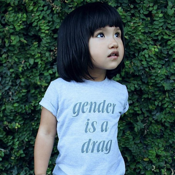 Gender Is A Drag Baby + Kids Tee