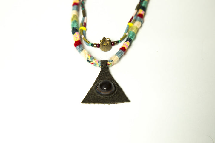 Eye Agate Necklace - $94