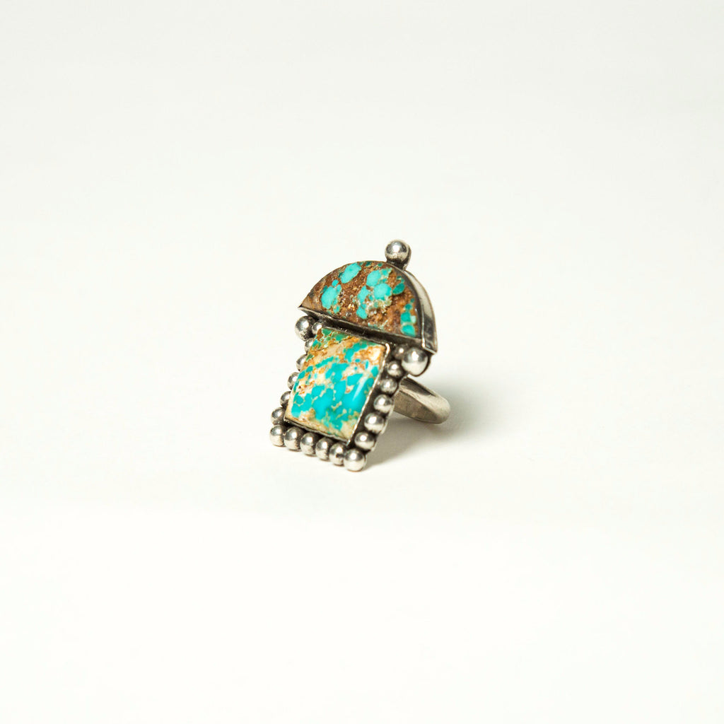 Turquoise Pyramid Ring