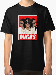 Migos Quavo Men's T Shirt Black  Print Casual T-Shirt Men Brand Top Tee Summer 2018 Short Sleeve Plus Size Simple