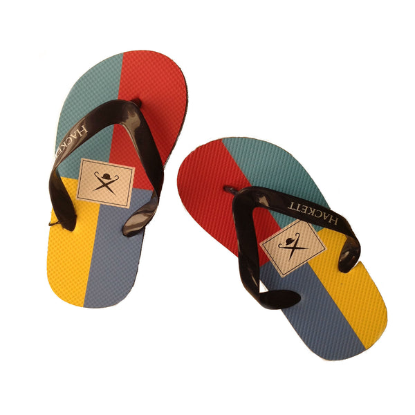 Chanclas de colores con logo de Hackett London en bitsibaba.com