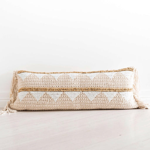Cushion Cover | Chunky Knit Beaded | Lumbar
