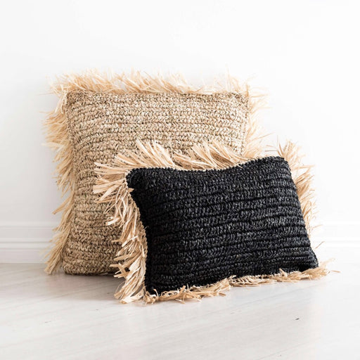 Cushion Cover | Raffia | Little Black Lumbar