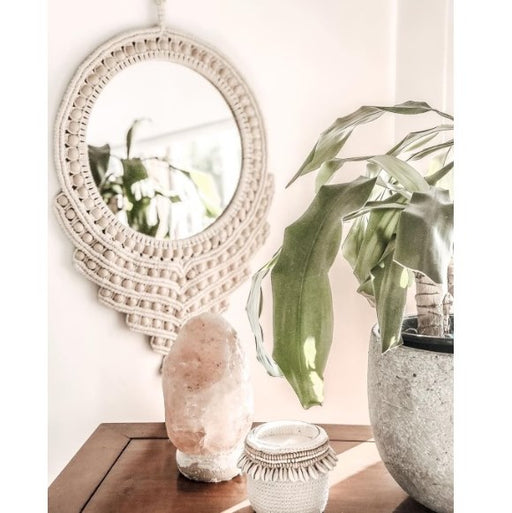 Looky Here Crochet Mirror