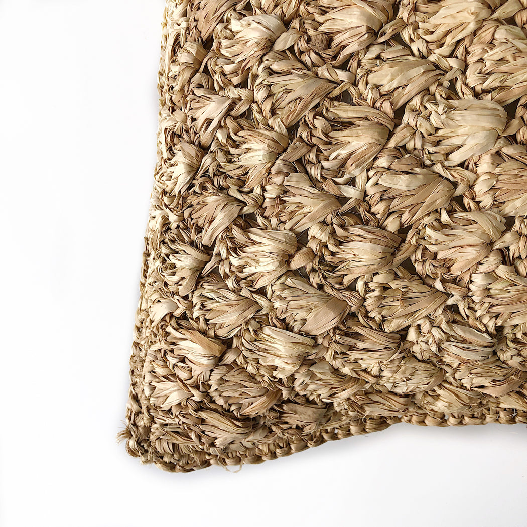 Cushion Cover | Raffia | Crochet