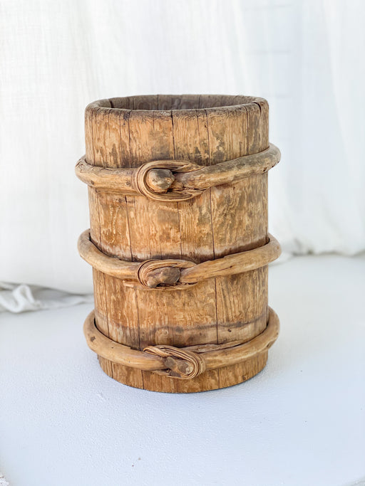Antique Wooden Pot