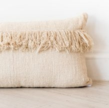 Cushion Cover | Raw Cotton | Lumbar | Large