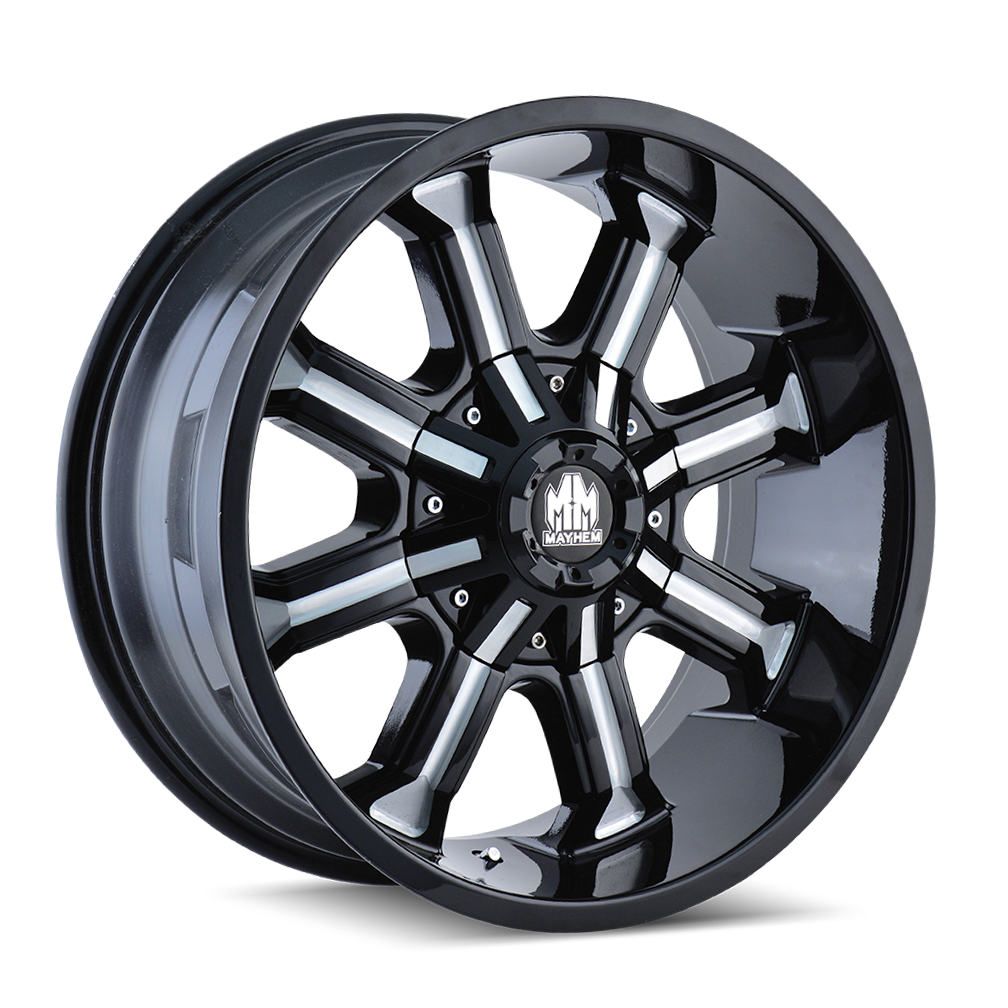 MAYHEM 8102-2997M BEAST (8102) BLACK/MILLED SPOKES 20X9 5-150/5-139.7 0MM 110MM