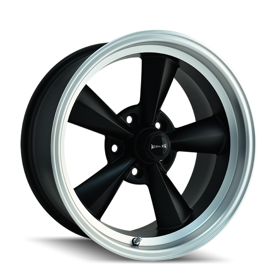 RIDLER 675-7861MB 675 (675) MATTE BLACK/MACHINED LIP 17X8 5-120.65 0MM 83.82MM