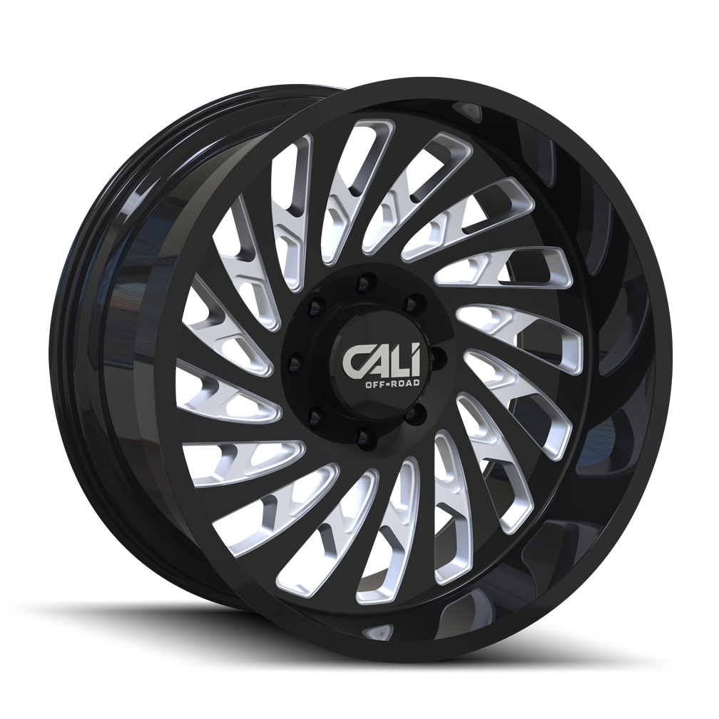 CALI OFF-ROAD 9108-2283BM SWITCHBACK (9108) GLOSS BLACK/MILLED 20X12 6-139.7 -51MM 106MM