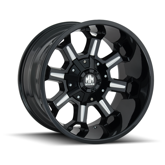 MAYHEM 8105-2937M COMBAT (8105) GLOSS BLACK/MILLED SPOKES 20X9 6-135/6-139.7 0MM 106MM