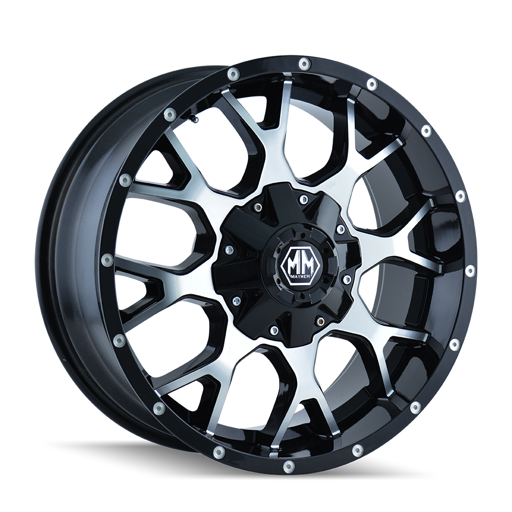 MAYHEM 8015-7956B WARRIOR (8015) BLACK/MACHINED FACE 17X9 5-114.3/5-127 -12MM 87MM