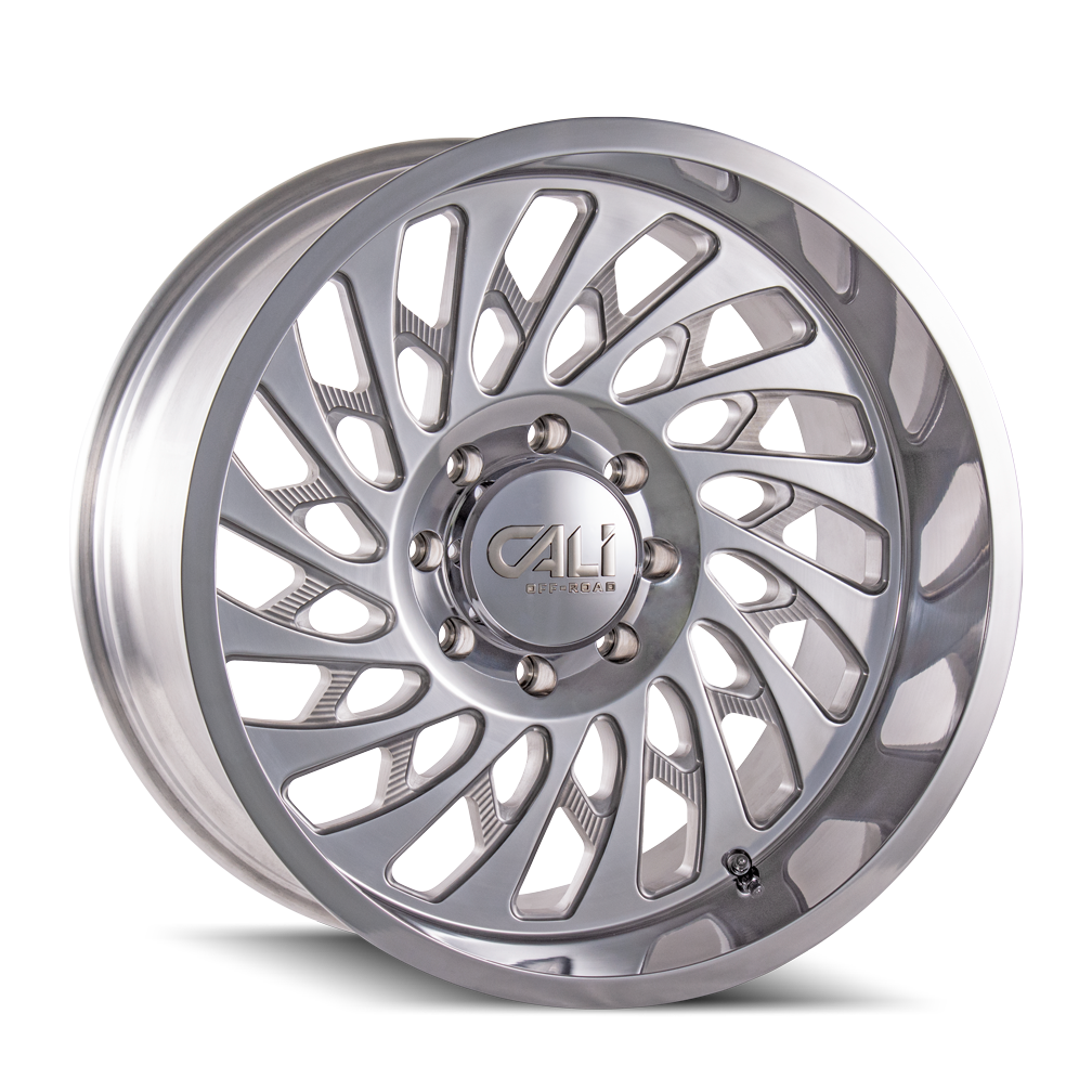 CALI OFF-ROAD 9108-2281P SWITCHBACK (9108) POLISHED 20X12 8-165.1 -51MM 130.8MM