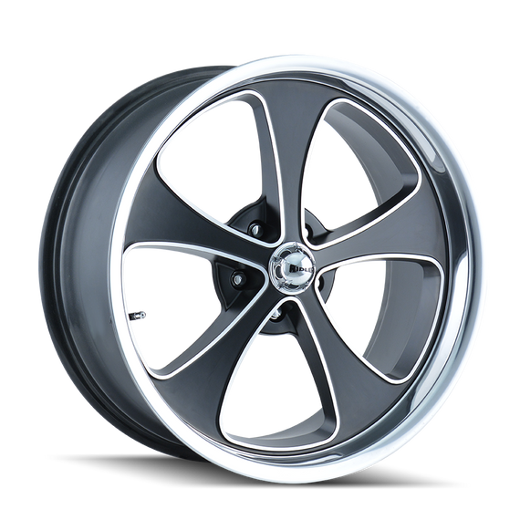 RIDLER 645-2165MBP 645 (645) MATTE BLACK/MACHINED FACE/POLISHED LIP 20X10 5-114.3 0MM 83.82MM
