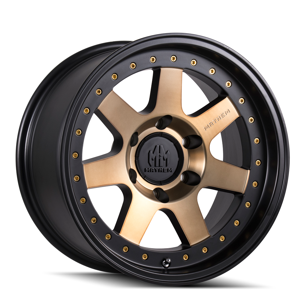 MAYHEM 8300-8970TZ PRODIGY (8300) MATTE BLACK W/BRONZE TINT 18X9 8-170 0MM 130.8MM