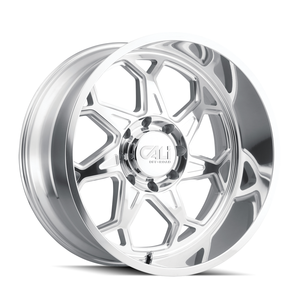 CALI OFF-ROAD 9111-24281P SEVENFOLD (9111) POLISHED 24X12 8-165.1 -51mm 130.8mm