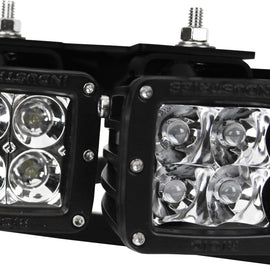 Rigid Industries 46510 Fog Light Mount Kit; For Use w/Rigid D Series LED Lights; Light Sold Separately;