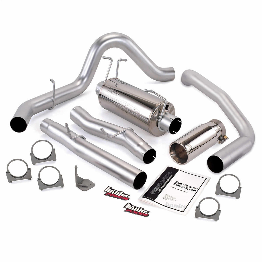 Banks Power 47291 Monster Exhaust System; S/S-Chrome Tip-03-06 Ford 6.0L; F4-550; Cc 200