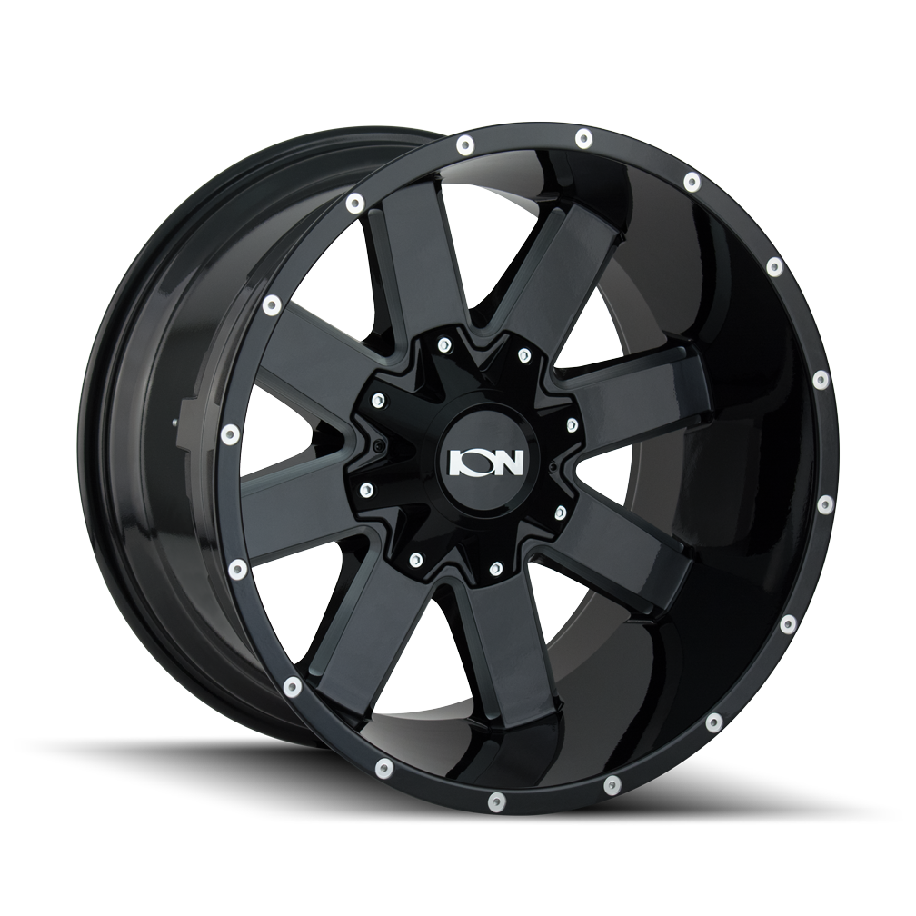 ION 141-7956M 141 (141) GLOSS BLACK/MILLED SPOKES 17X9 5-114.3/5-127 -12MM 87MM