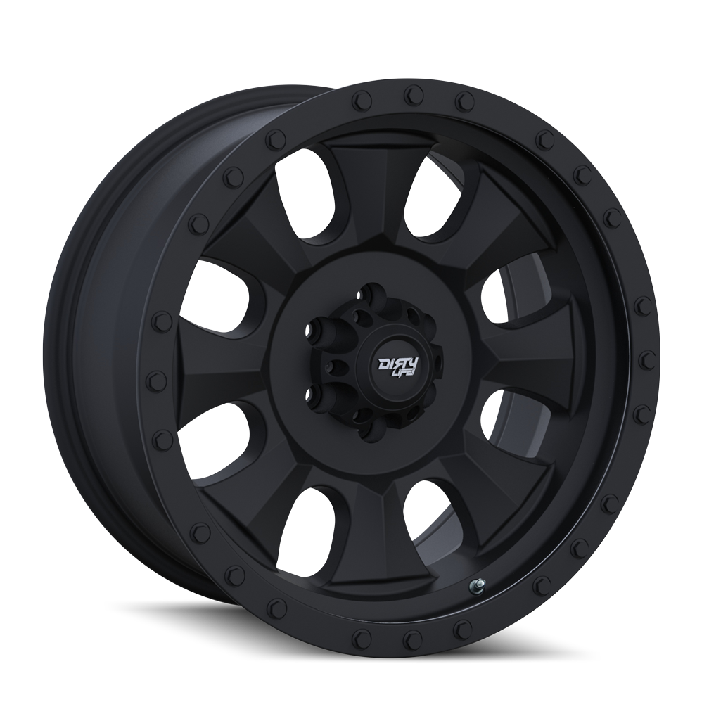 DIRTY LIFE 9300-2981MB IRONMAN (9300) MATTE BLACK/BLACK BEADLOCK 20X9 8x6.5 0MM 130.8MM
