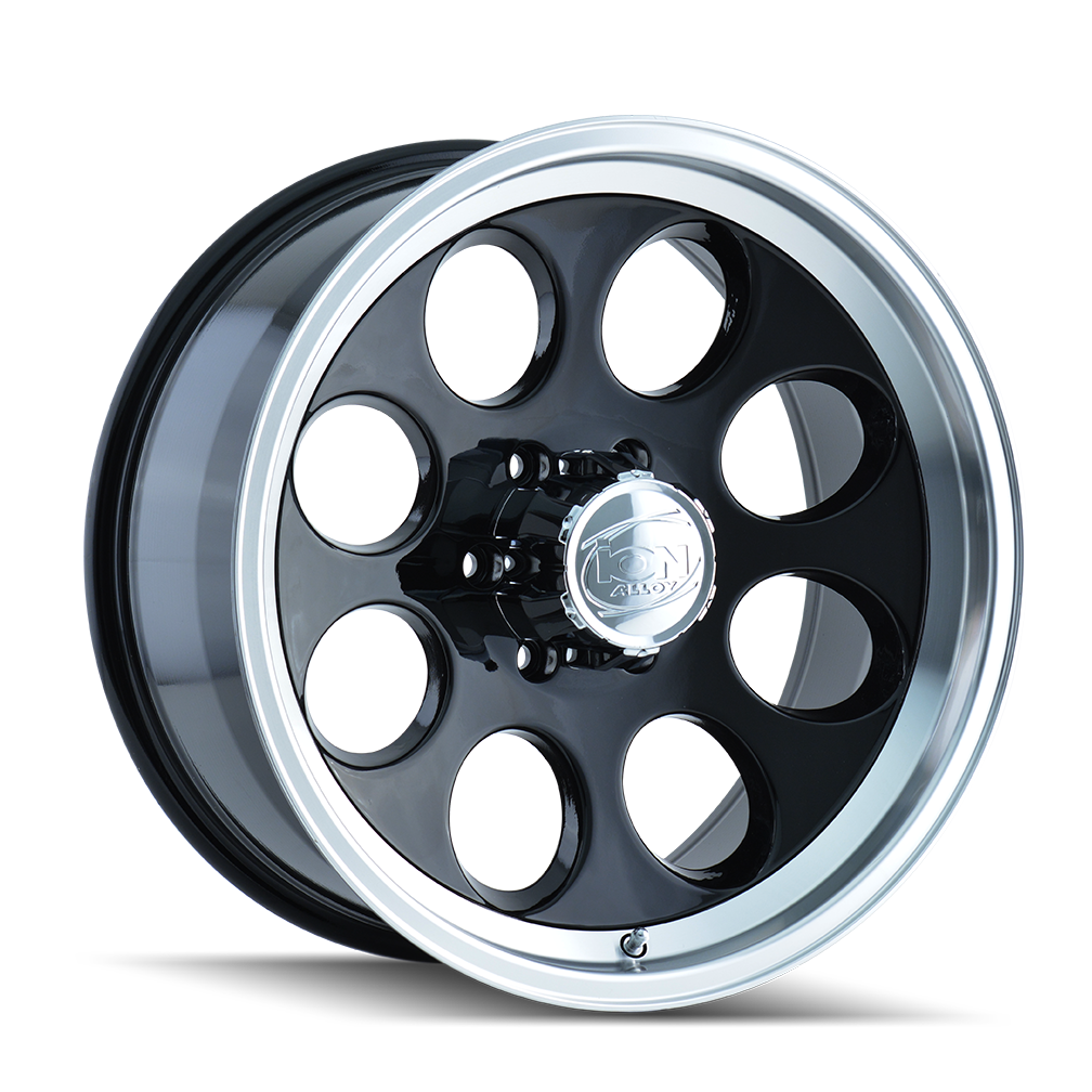 ION 171-5883B 171 (171) BLACK/MACHINED LIP 15X8 6-139.7 -27MM 108MM