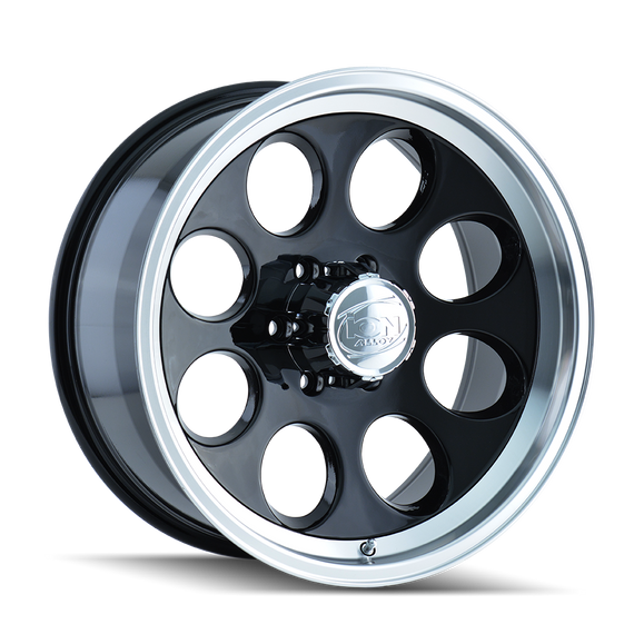 ION 171-5183B 171 (171) BLACK/MACHINED LIP 15X10 6-139.7 -38MM 108MM