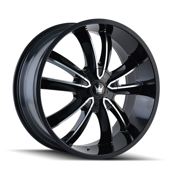 MAZZI 366-24918B OBSESSION (366) GLOSS BLACK/MACHINED FACE 24X9.5 5-115/5-120 18MM 74.1MM