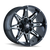 MAYHEM 8090-22976M RAMPAGE (8090) BLACK/MILLED SPOKES 22X9.5 8-165.1/8-170 -6MM 130.8MM