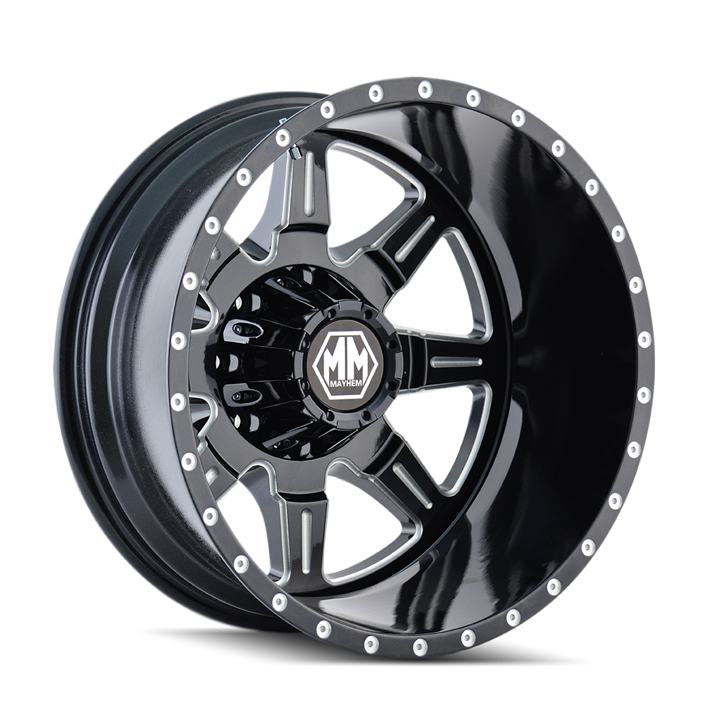 MAYHEM 8101-22879MR MONSTIR (8101) REAR BLACK/MILLED SPOKES 22X8.25 8-210 -160MM 154.2MM