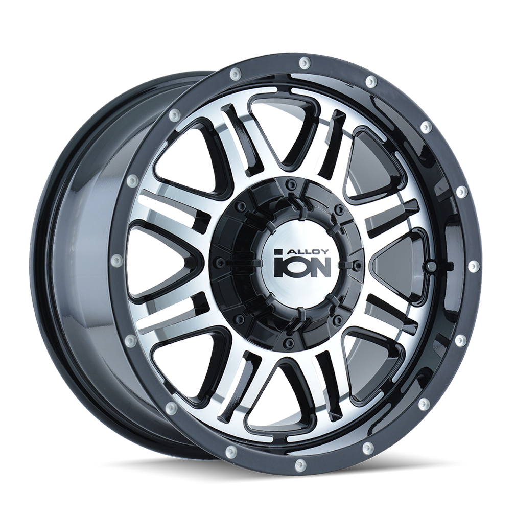 ION 186-8976B18 186 (186) BLACK/MACHINED FACE 18X9 8-165.1/8-170 18MM 130.8MM