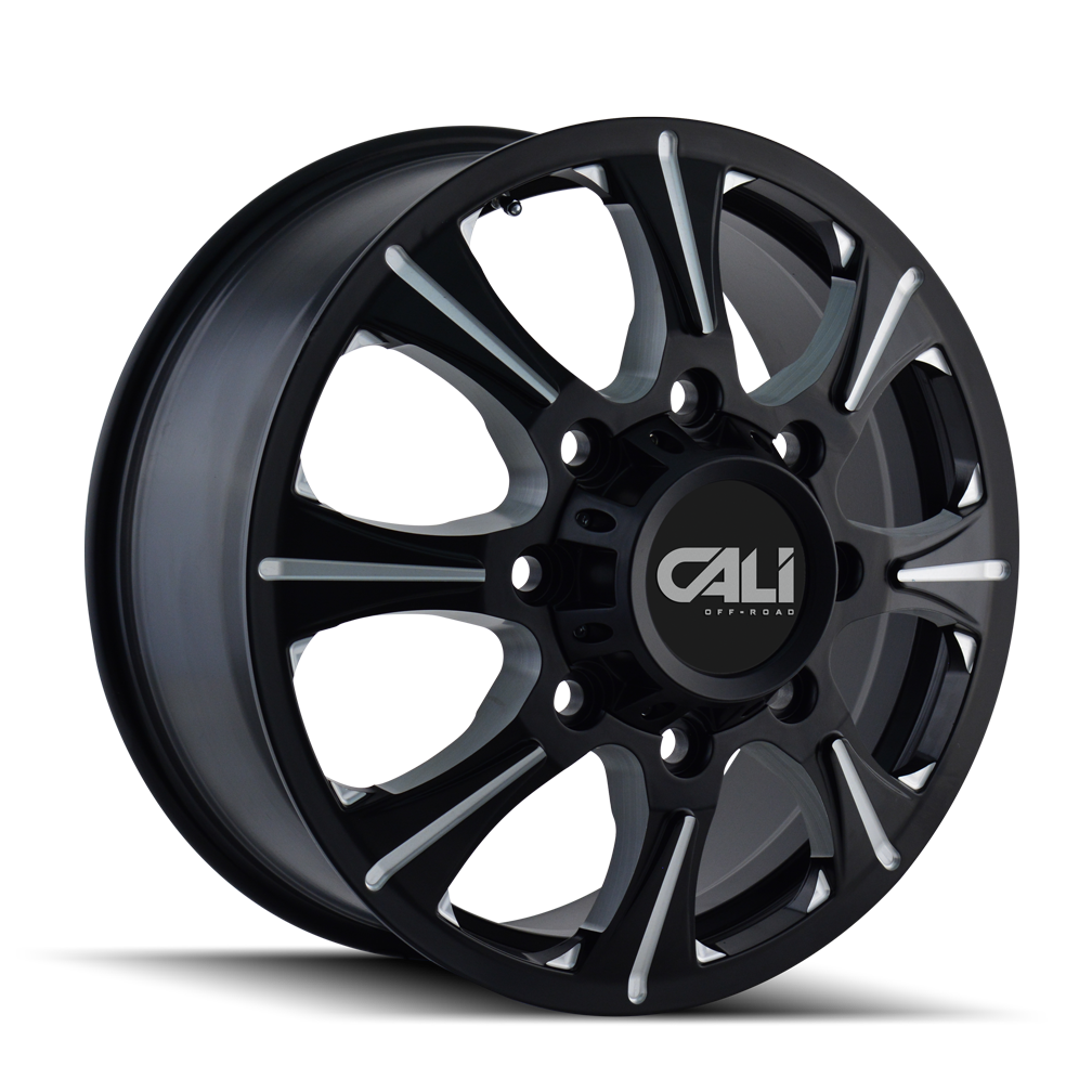 CALI OFF-ROAD 9105-2879BF BRUTAL (9105) FRONT BLACK/MILLED SPOKES 20X8.25 8-210 127MM 154.2MM