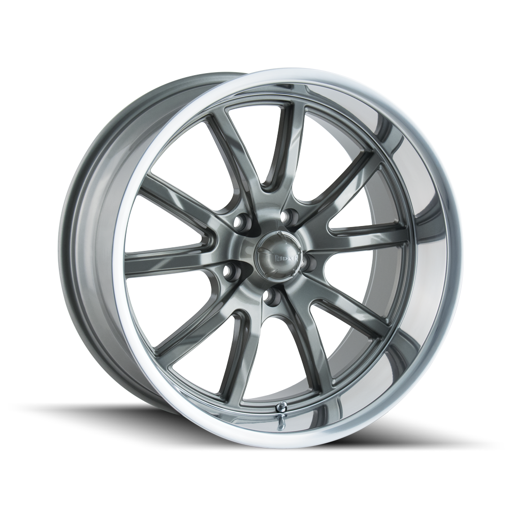 RIDLER 650-5765G 650 (650) GREY/POLISHED LIP 15X7 5-114.3 0MM 83.82MM