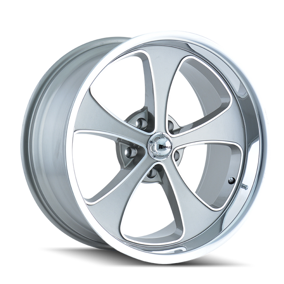 RIDLER 645-7861GP 645 (645) GREY/MACHINED FACE/POLISHED LIP 17X8 5-120.65 0MM 83.82MM
