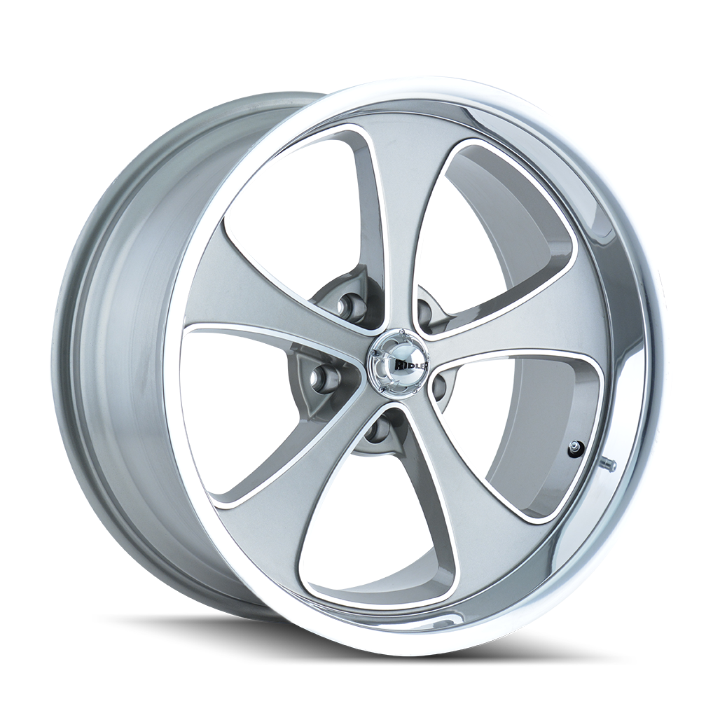 RIDLER 645-7765GP 645 (645) GREY/MACHINED FACE/POLISHED LIP 17X7 5-114.3 0MM 83.82MM