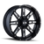 ION 184-2152M 184 (184) SATIN BLACK/MILLED SPOKES 20X10 5-127/5-139.7 -19MM 87MM