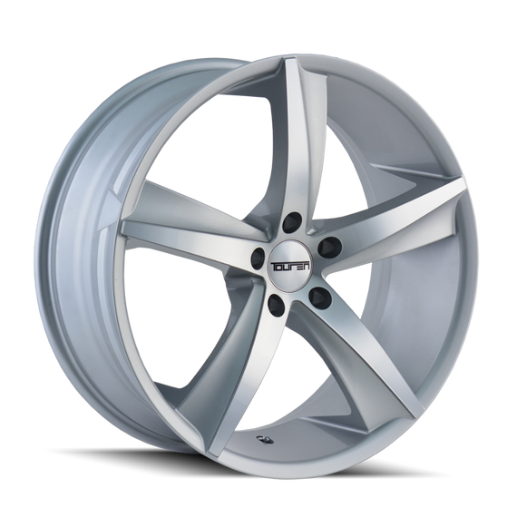 TOUREN 3272-2845S30 TR72 (3272) GLOSS SILVER/MACHINED FACE 20X8.5 5-112 30MM 66.56MM