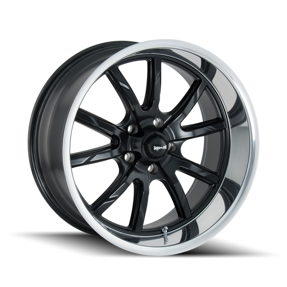 RIDLER 650-8865MB 650 (650) MATTE BLACK/POLISHED LIP 18X8 5-114.3 0MM 83.82MM