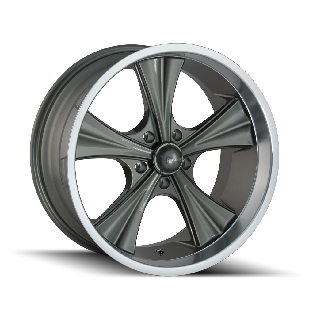 RIDLER 651-8865G 651 (651) GREY/MACHINED LIP 18X8 5-114.3 0MM 83.82MM