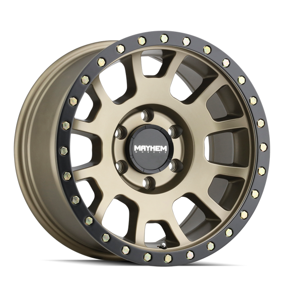MAYHEM 8302-2936MGD SCOUT (8302) MATTE GOLD W/ MATTE BLACK LIP 20X9 6-135 0mm 87.1mm
