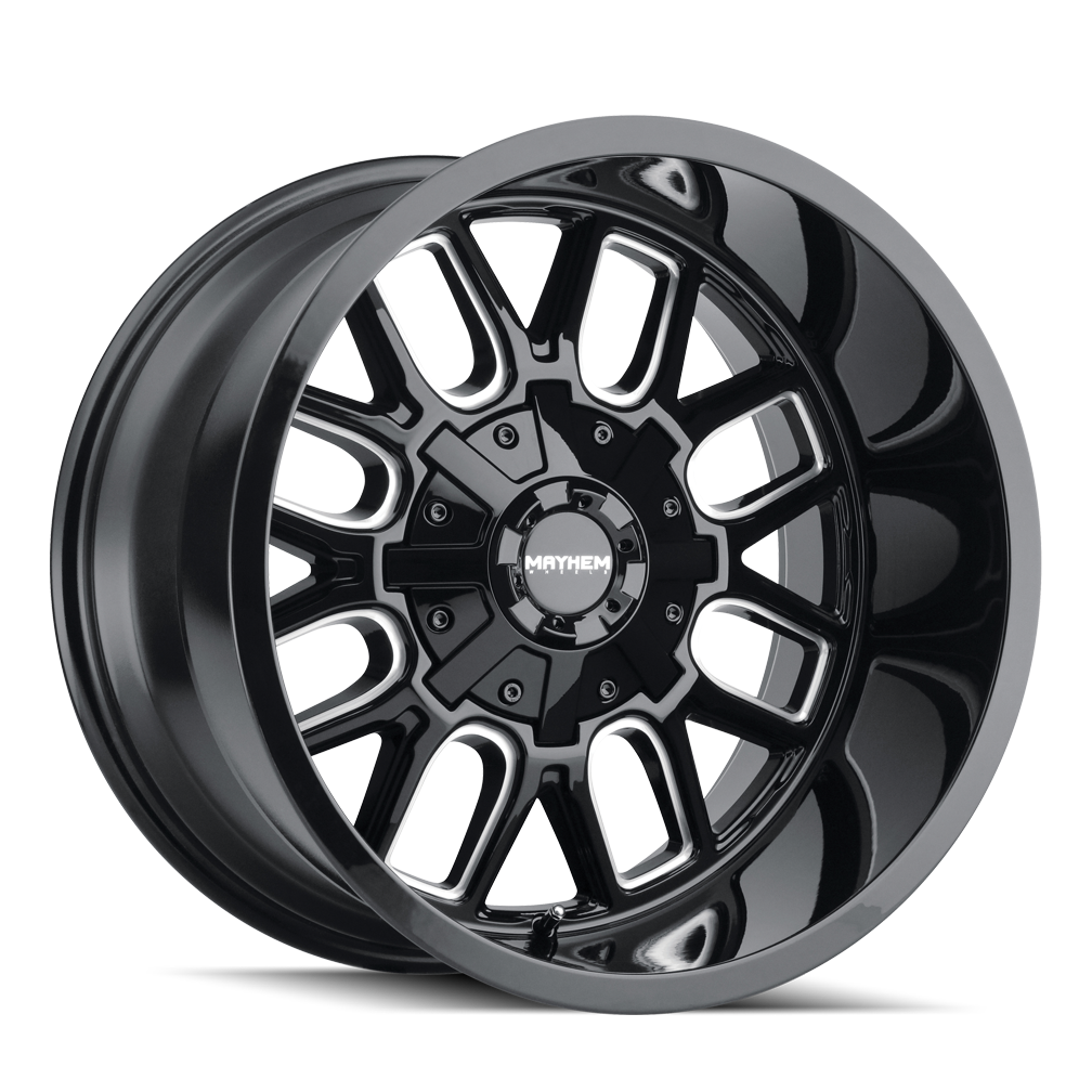 MAYHEM 8107-2937BM COGENT (8107) GLOSS BLACK/MILLED SPOKES 20X9 6-135/6-139.7 0mm 106mm